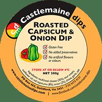 Castlemaine Dips gluten-free vegetarian roasted capsicum dip