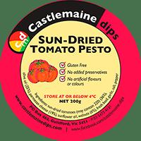 Castlemaine Dips gluten-free vegetarian sun-dried tomato pesto