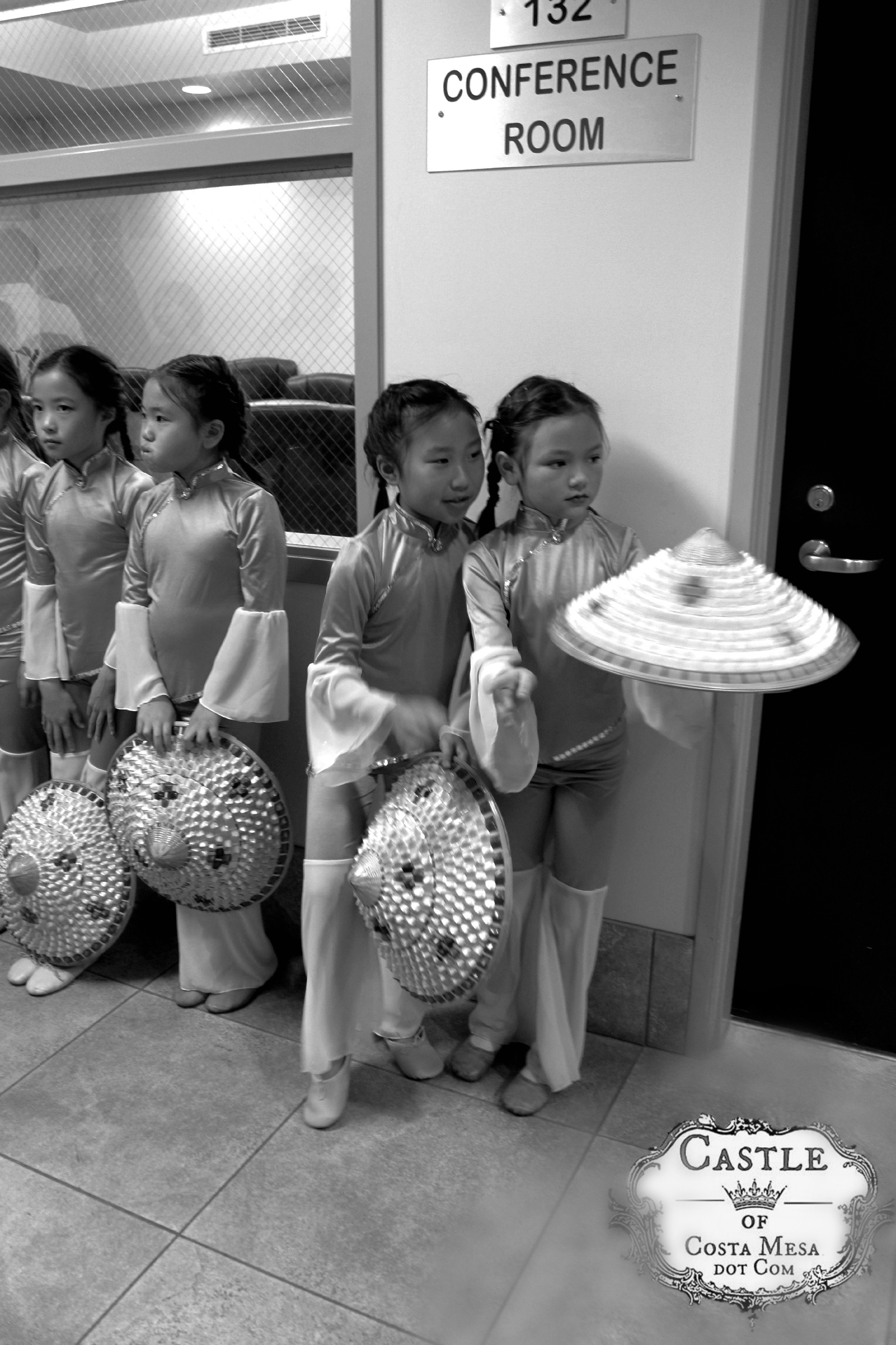 Backstage At Chinese New Year Of The Horse Celebration Playing In The Rain Interpretive Folk