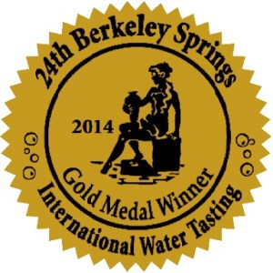 Castle Rock Water Co Gold Medal Winner 2014 International Berkeley Springs