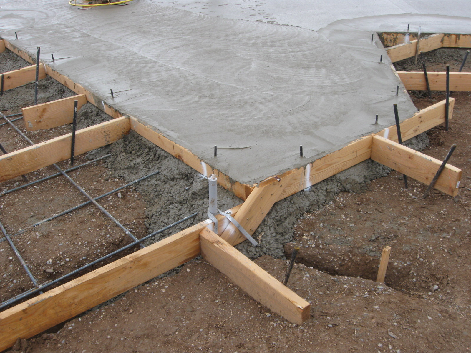 Pouring Concrete Slab Foundation