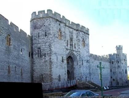 Kings Gate at Caernarfon castle