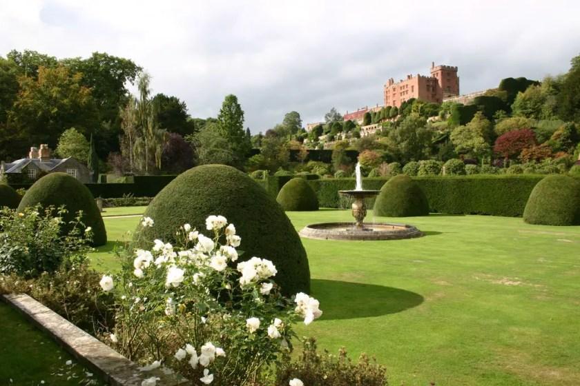 The garden at Powis Castle