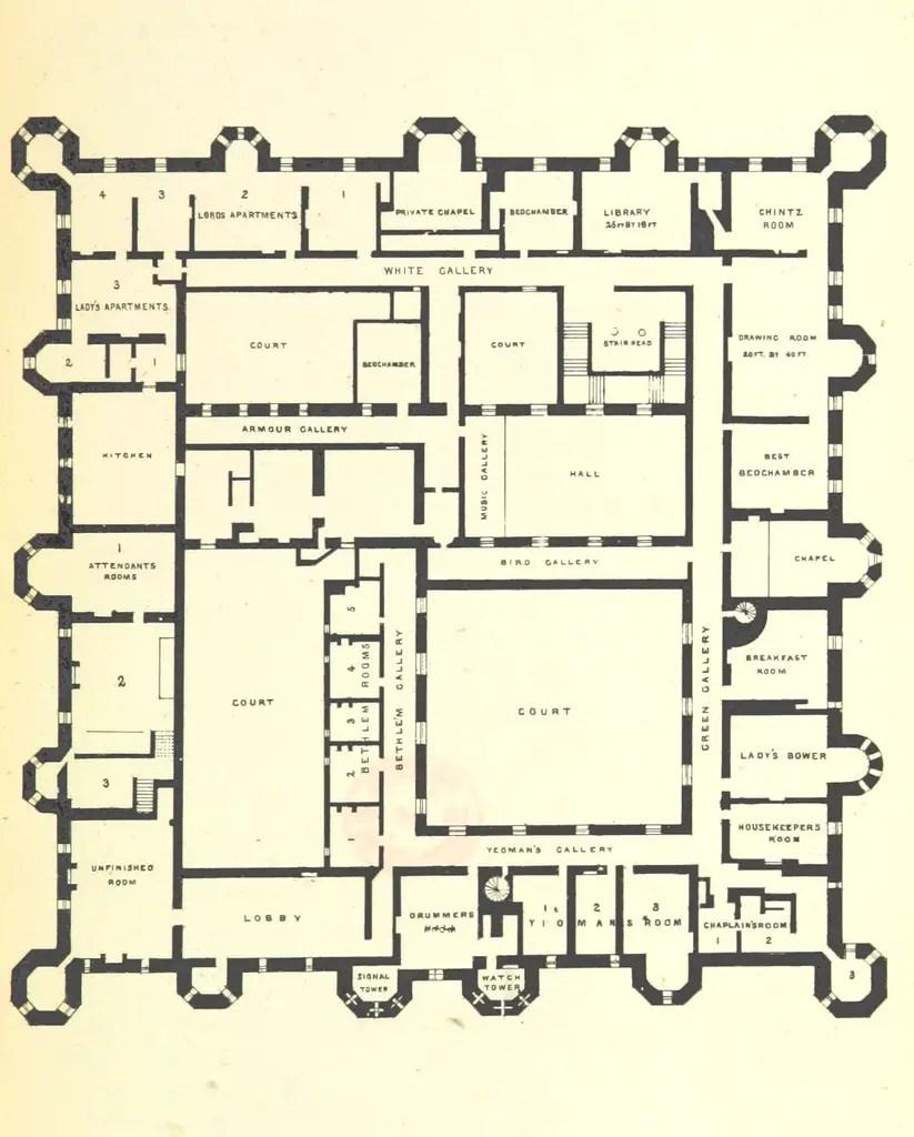 Floor plans of Herstmoneceux Castle