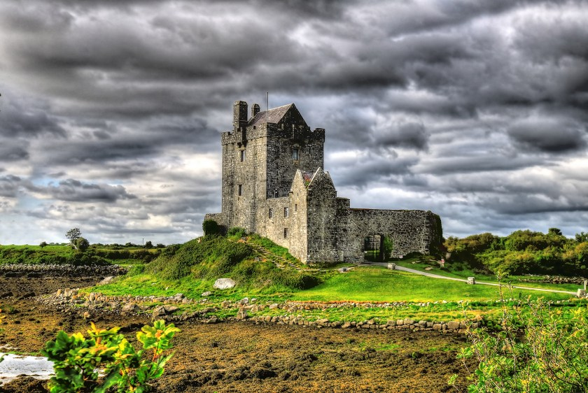 Dunguaire Castle on a cloudy day