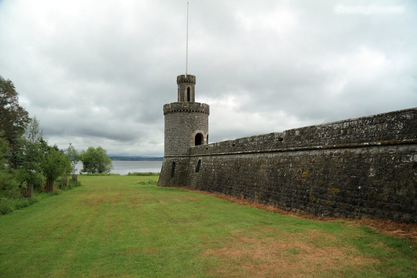 Tower and a wall at Shane's Castle