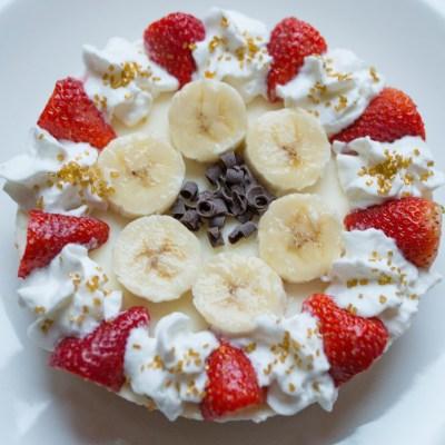 Easy Strawberry Banana Cheesecake
