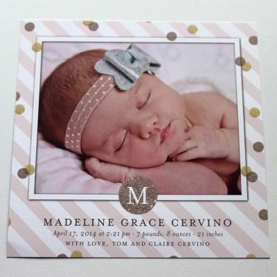 Maddie Grace's Birth Announcements