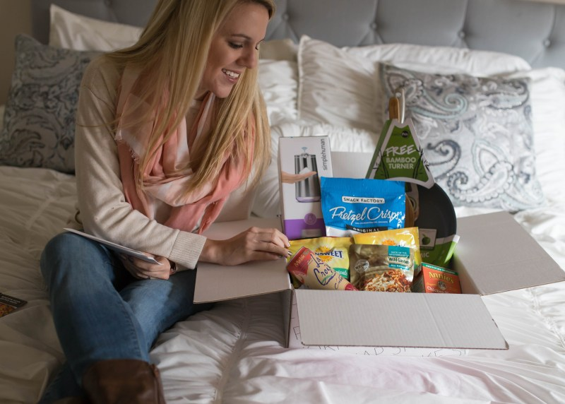 Checking out my new Babbleboxx full of great food and entertaining products!