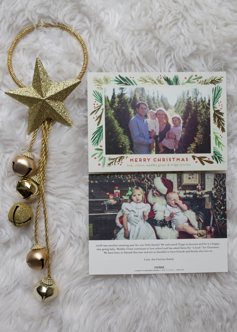 best christmas cards family picture gold foil minted