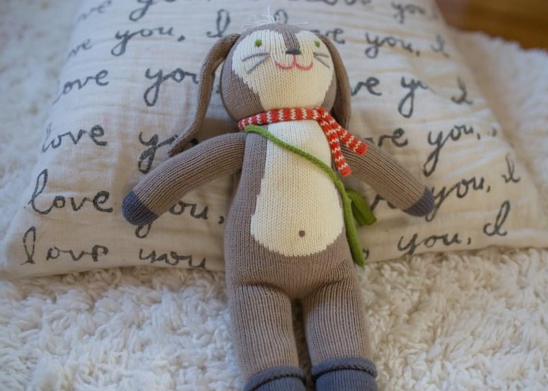 blabla kids knit stuffed doll Pierre bunny