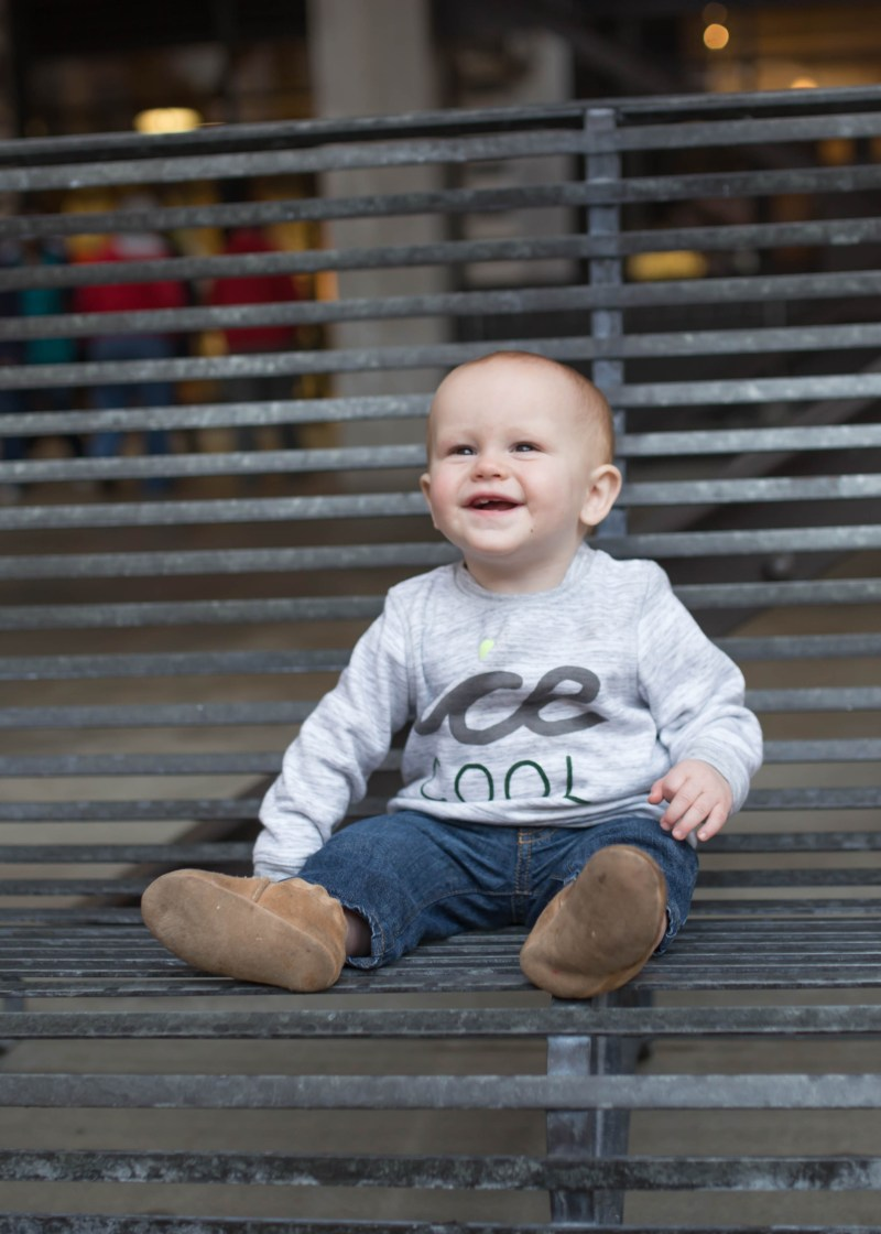 cute baby in ice cool sweatshirt