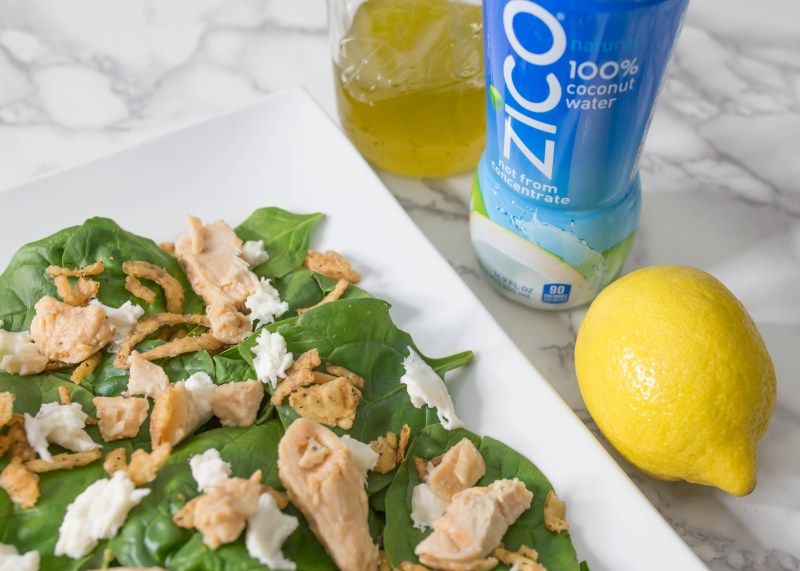 lemon with Zico coconut water vinaigrette recipe