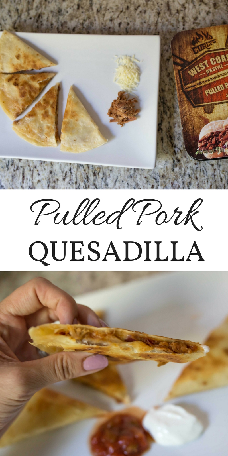 BBQ Pulled Pork Quesadilla by Atlanta blogger Casual Claire