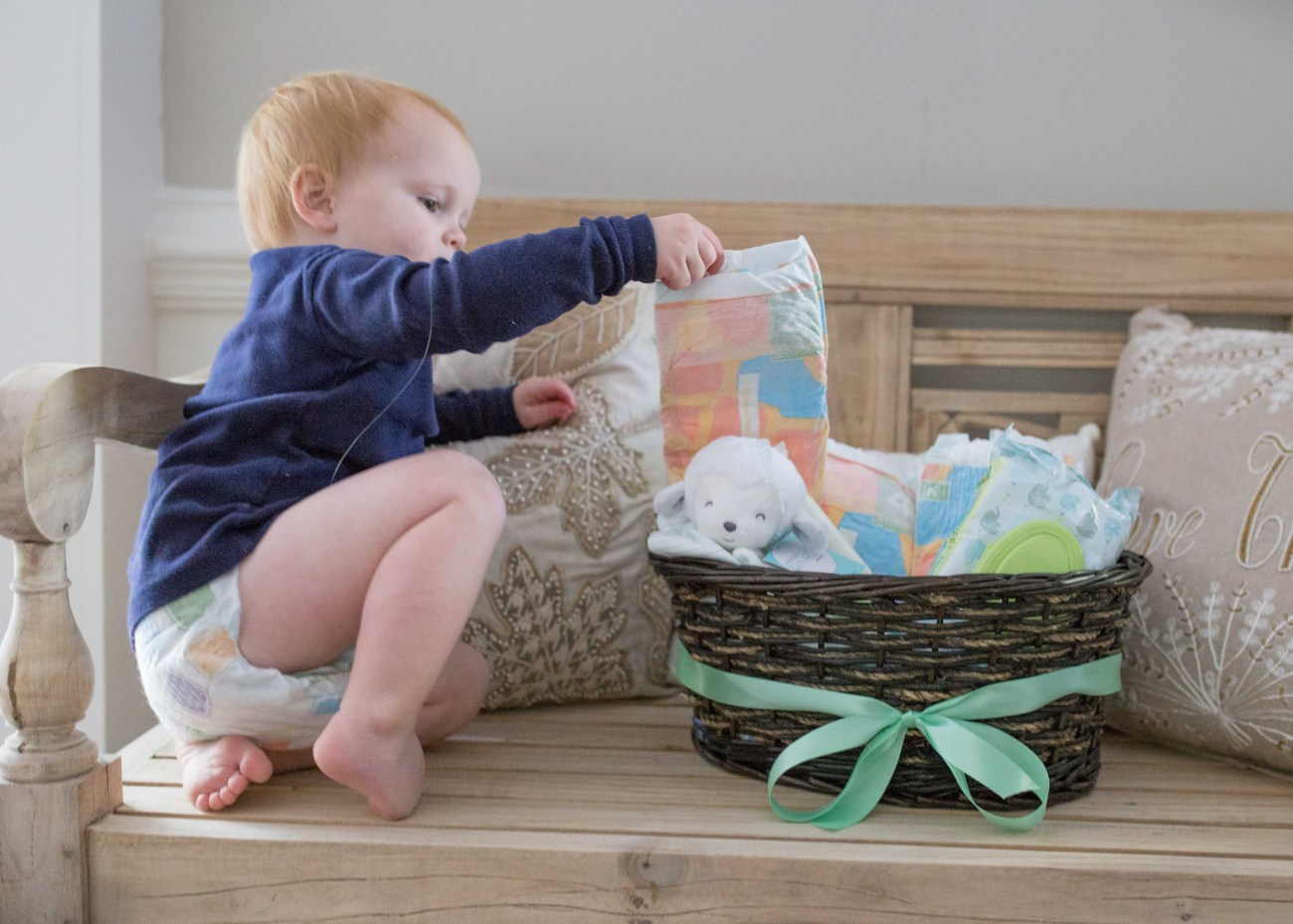 4fe43bf87 Making a Gender Neutral Baby Gift Basket - Casual Claire