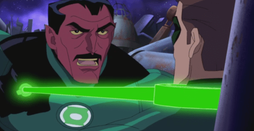 Sinestro-Disapproving Of Hal's Non-Lethal Approach!