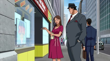 Lois Lane-Not That Impressed By Supes' Cartoon!