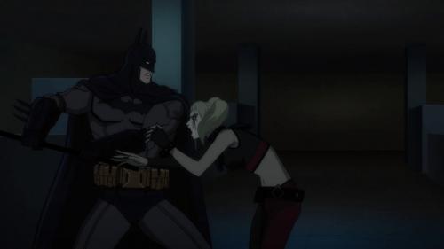 Batman-K.O.ing Harley!