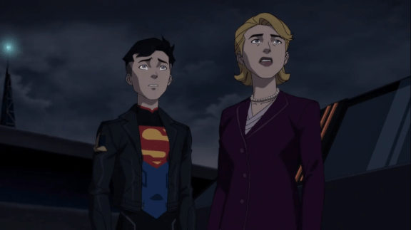 Superboy-Let's Get You Out Of Here, Madam President!