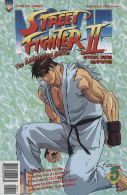 Street Fighter II-Animated Movie #5 Cover!