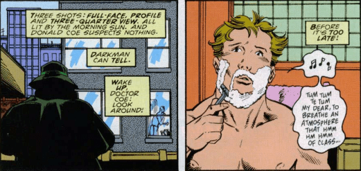 Darkman #4-Sneaky During A Shave!