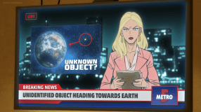 TV Newscaster-Something's On Its Way To Earth!
