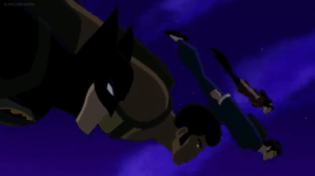 Batman-Taking The Plunge With My Fellow Fighters!