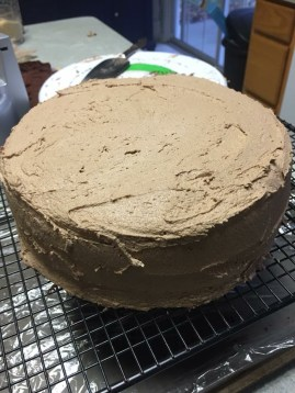 Nutella buttercream coating