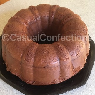 Just an unassuming devil's food bundt cake.