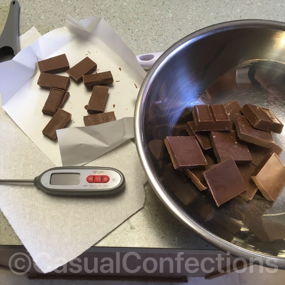 Chocolate tempering prep