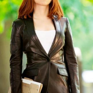 Original Leather Coat of Scarlett Johansson Captain America