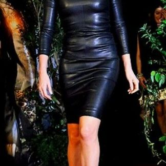 Charlize Therone Leather Skirt