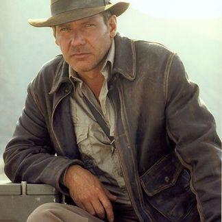 Original Leather Jacket of Indiana Jones - Harrison Ford Movie