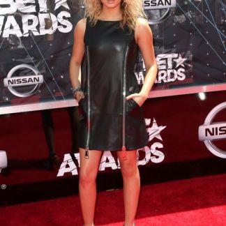 Leather Skirt of Tori Kelly
