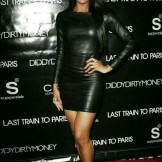 Selena Gomez Leather Skirt