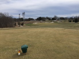 Heron Glen's 15th hole is a medium par 3. Do power lines emit negative ions that push golf balls backward?