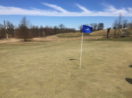 Heron Glen 7th hole is a shot par 3 but winds in the area make it a tricker shot to gauge.