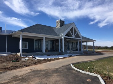 New clubhouse under constructions. Should be open in May 2018. It will offer a great view of the 18th green from the porch.