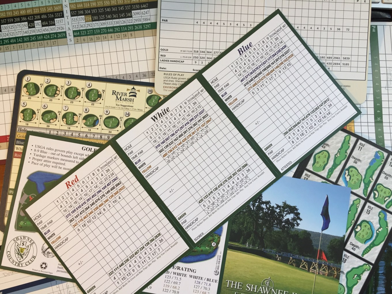 Blank scorecards