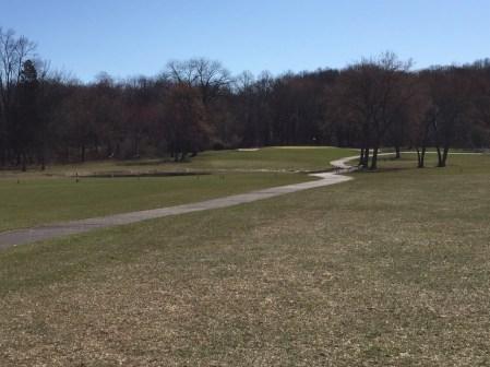 Pond on 12th hole.