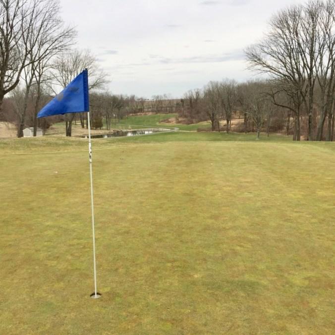 5th hole green