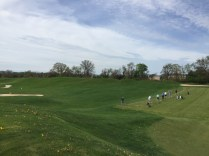 Driving range with adjacent bunker range.