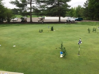 Putting green was set up with a 3 hole putting contest.