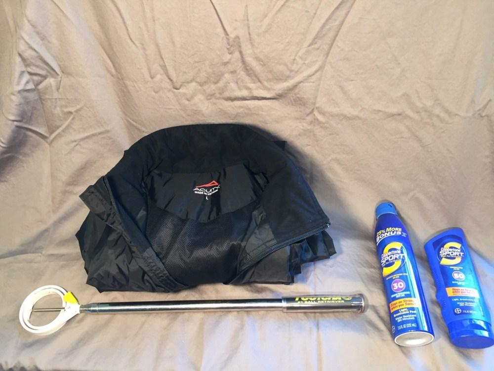 Golf Bag Conent - Right Main Pocket