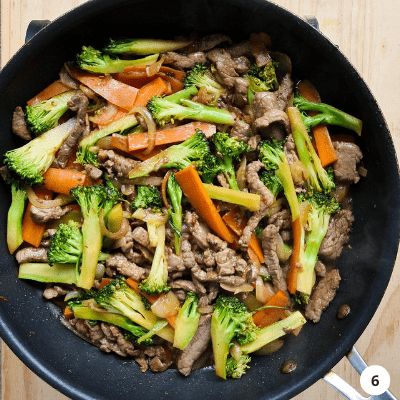 Chinese beef and vegetables stir fry
