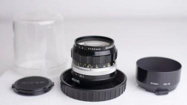 nikon nikkor 35mm f-2 lens review product photos-1