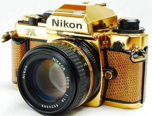 nikon fa in gold