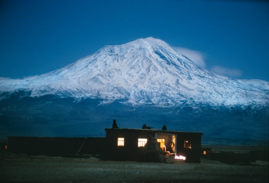 TURKEY. Eastern Anatolia. 1988. Volcanic cone Mount Ararat (also known as Agri Dagi), highest mountain in Turkey at 5137m. Ara Güler / Magnum Photos