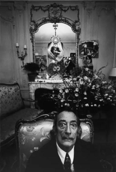 Dali in his suite no.101 at the Hotel Meurice on the Rue de Rivoli in Paris. Ara Güler / Magnum Photos