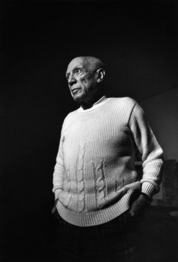 Pablo Picasso the Spanish artist in his studio at Notre Dame de Vie near Cannes, France. Ara Güler / Magnum Photos